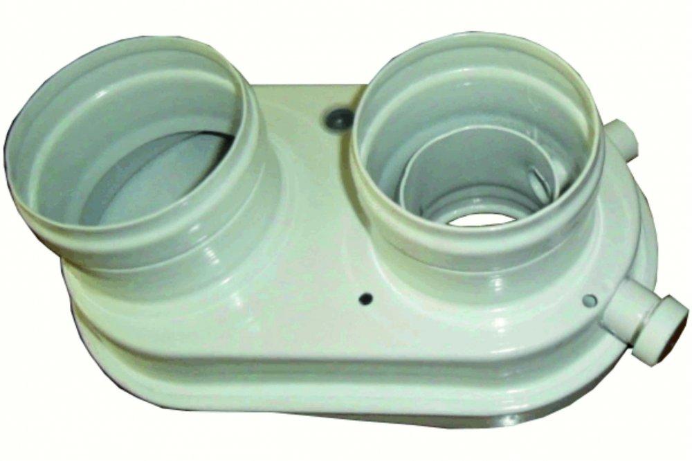 KVART rozdělovač sání/výfuk s odvodem kondenzátu