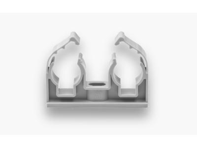 Dvojpříchytka D 2x20 plast s klipem