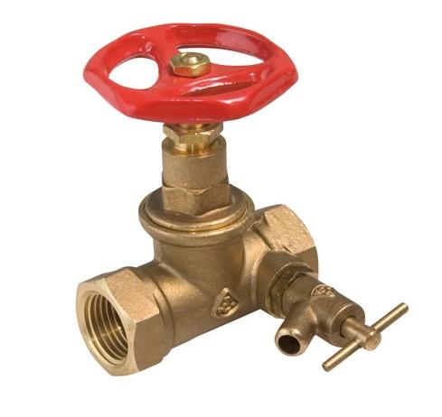 """SLOVARM uzavírací ventil (šoupě) s odvodněním 6/4"""" 411098"""