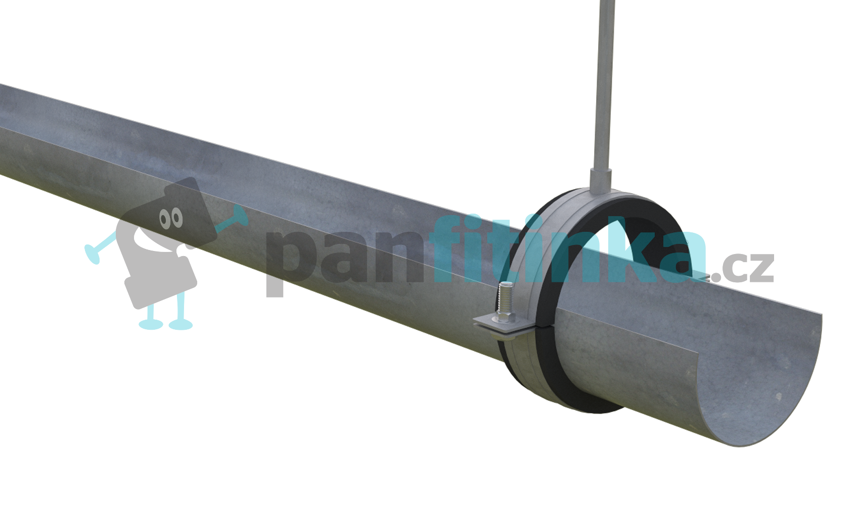 Agropodnik podpůrný žlab pr. 50 x 3000 mm pozink PZ050