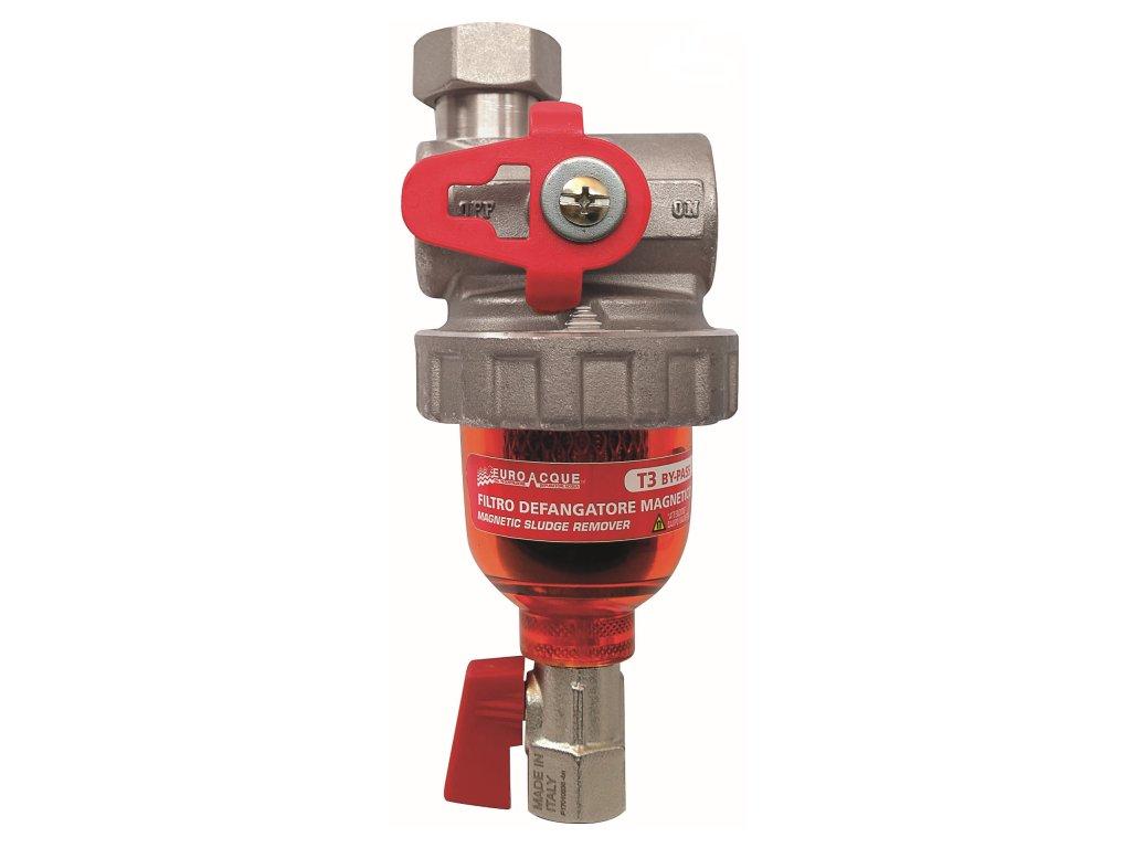 """Euroacque magnetický odkalovací filtr na vodu T3 BYPASS 3/4"""" T0000003"""