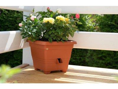 Plastia samozavlažovací květináč Bergamot 35x35