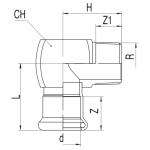 RB TURBO STEEL přechodový oblouk s vnějším závitem lisovací uhlíková ocel