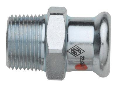 RB TURBO STEEL spojka s vnějším závitem lisovací uhlíková ocel
