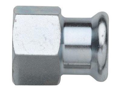 RB TURBO STEEL spojka s vnitřním závitem lisovací uhlíková ocel