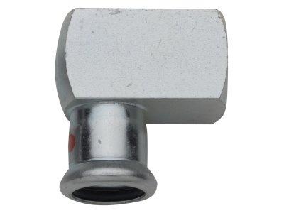 RB TURBO STEEL přechodový oblouk s vnitřním závitem lisovací uhlíková ocel