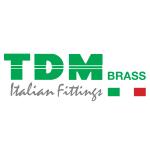 TDM mosazný T - kus s vnějšími závity