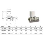 """Luxor RD101 ruční radiátorový ventil 1/2"""" přímý 11222100"""