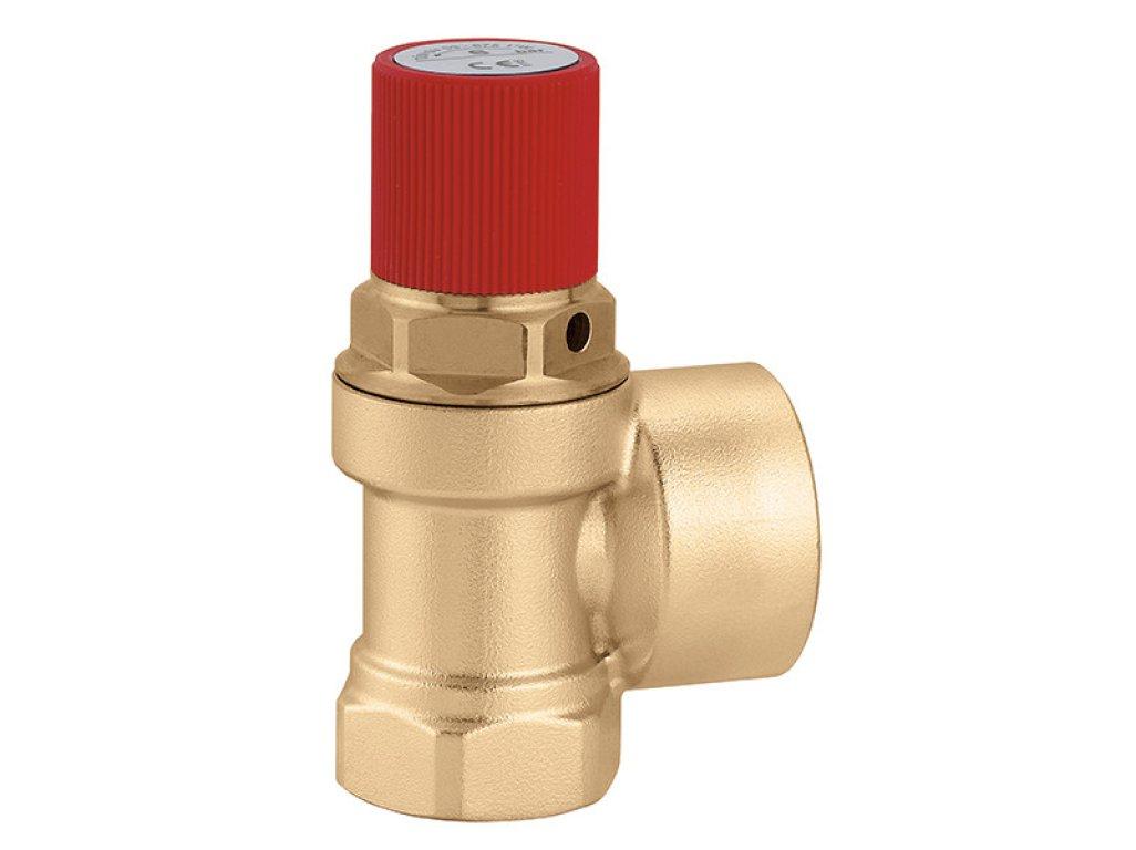 "CALEFFI pojistný ventil FF 5/4"" x 6/4"" 6 bar 53075460"