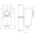 CEWAL příložný termostat TUSC 20-90 °C 91934010