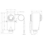 CEWAL termostat s kapilárou TUREC 30-90 °C 91934015