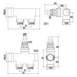 APM termostatický ventil pro žebřík