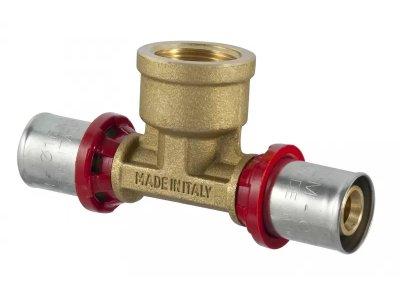 TDM lisovací PEX T-kus press vnitřní závit