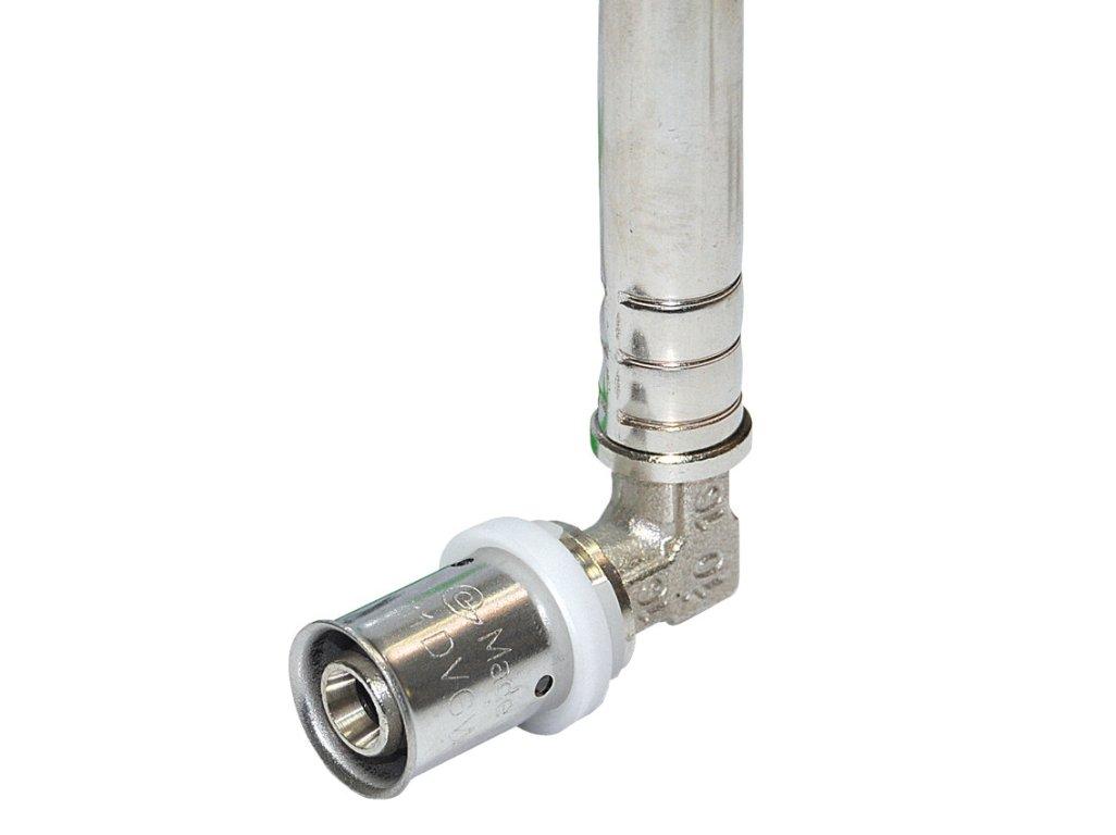 COMISA koleno 90° press 20x2 - ⌀15 mm (300 mm) pro připojení radiátoru 87.45.200