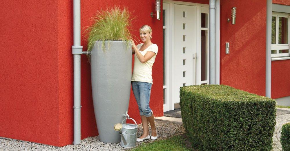 GRAF dešťová nádrž 2v1 300 l - zinkově šedá 326111