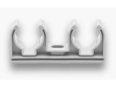 Dvojpříchytka D 2x16 plast