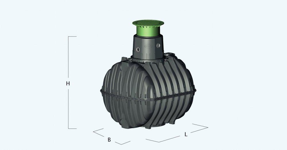 Graf GARDEN KOMFORT podzemní nádrž 2700l sestava pochozí 370110