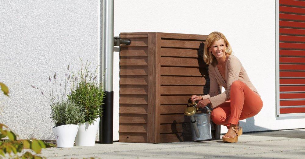 GRAF dřevěná nádrž na zeď 350 l - tmavé dřevo 212200