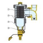 """CALEFFI DIRTMAG® 3/4"""" filtr s magnetem 545305"""