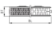 Radiátor X2 INSIDE 22 600x1600 2306 W boční připojení KERMI