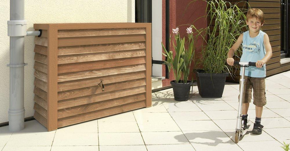 GRAF dřevěná nádrž na zeď 350 l - světlé dřevo 212201
